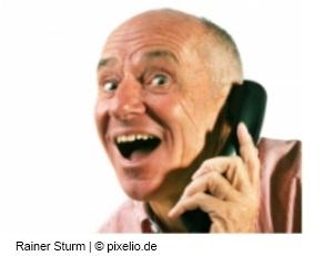 Grammatikrat am Sprachtelefon (c) Rainer Sturm / pixelio.de