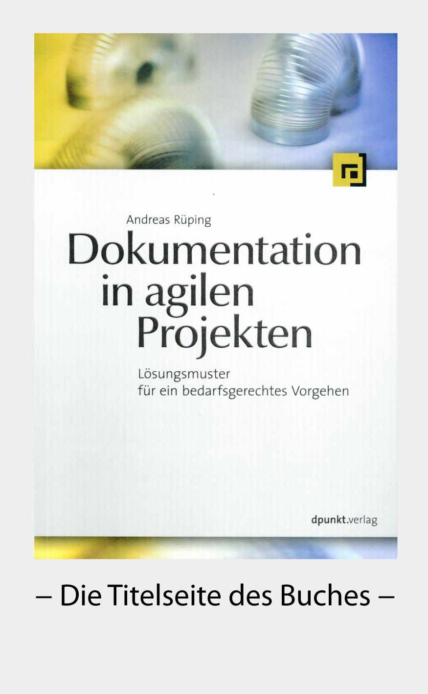 Titelseite Agile Dokumentation