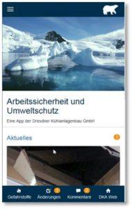 Arbeitsplatzinspektions-App von DKA