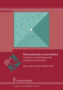 Jaki/Sabban (Hrsg.): Wissensformate in den Medien - Cover