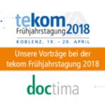 Metadaten und Doku-App: Unsere Vorträge bei der tekom-Frühjahrstagung