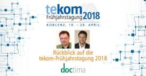 Rückblick tekom Frühjahrstagung 2018 in Koblenz