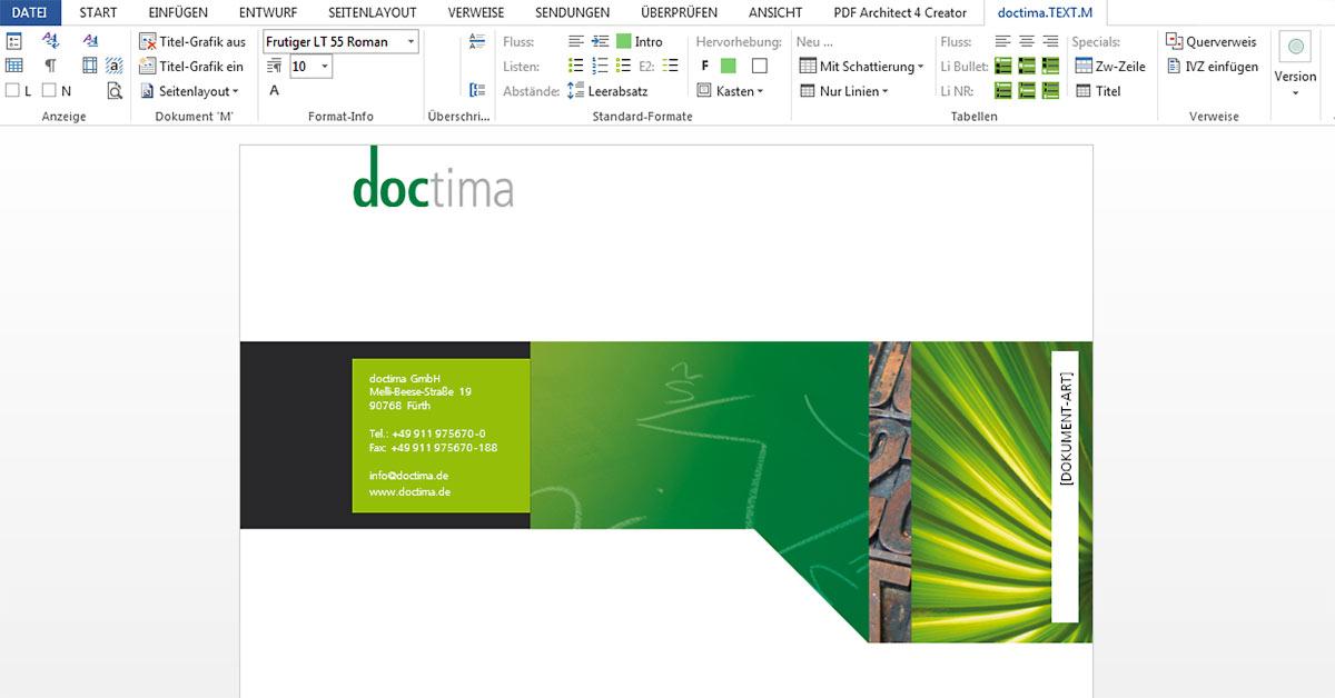 Microsoft Word Vorlage Technische Dokumentation