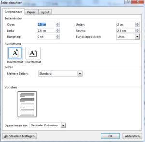 Seitenlayout in Word einrichten ist wichtig für Word-Vorlagen