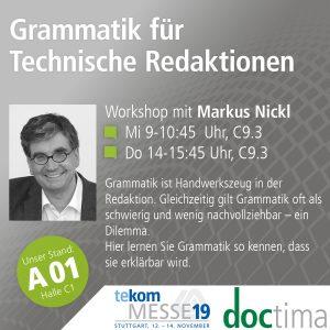 Vortrag Markus Nickl tekom19 Grammatik für Technische Redaktionen