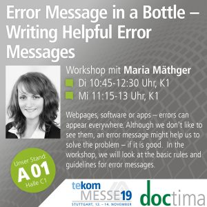 Vortrag Maria Mäthger doctima, teckom19, Fehlermeldungen