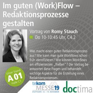 Vortrag Romy Stauch tekom19: Workflows und Redaktionsprozesse