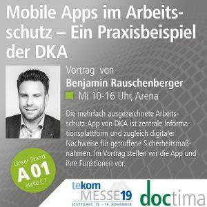 Vortrag Benjamin Rauschenberger, doctima, bei der tekom19, Mobile Dokumentation