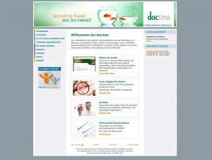 alte Website von doctima