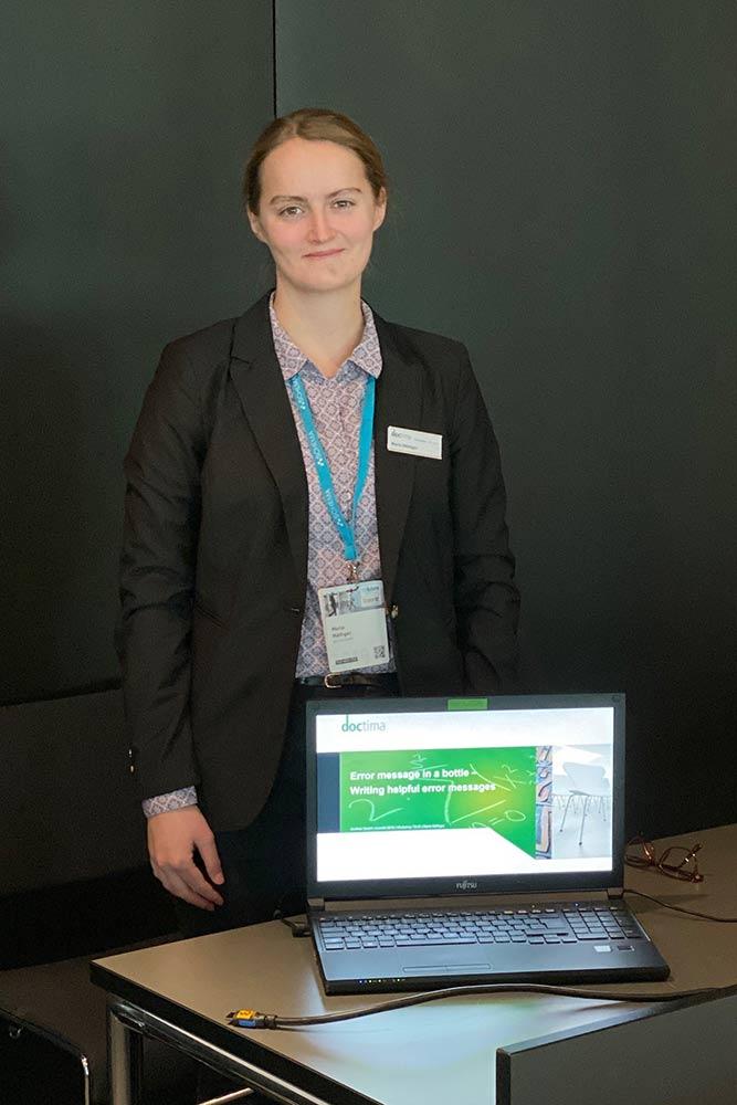 Maria Mäthger, Vortrag tekom 2019, Fehlermeldungen