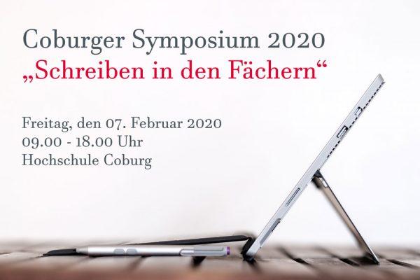 Coburger Symposium 2020: Schreiben in den Fächern