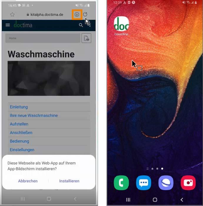 Installation einer Progressive Web App