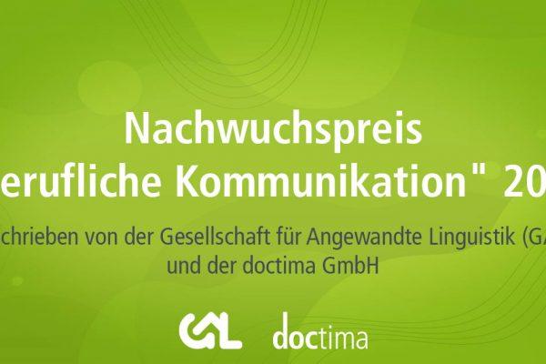 Nachwuchspreis Berufliche Kommunikation 2021