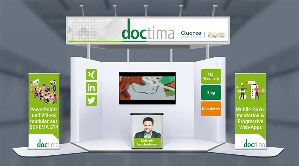 doctima Messestand SCHEMA Conference 2021