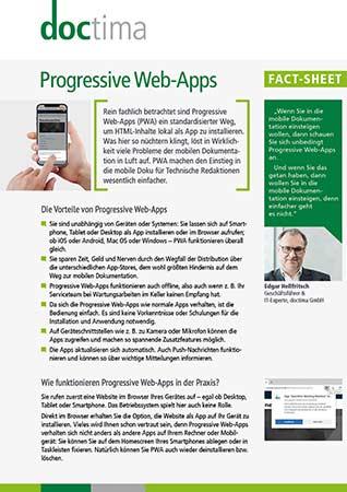 Fact Sheet Progressive Web-Apps doctima